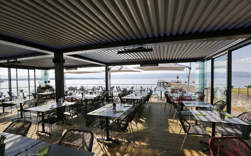 terrassenüberdachung mit bioklimatischer pergola, Terrassen ideen