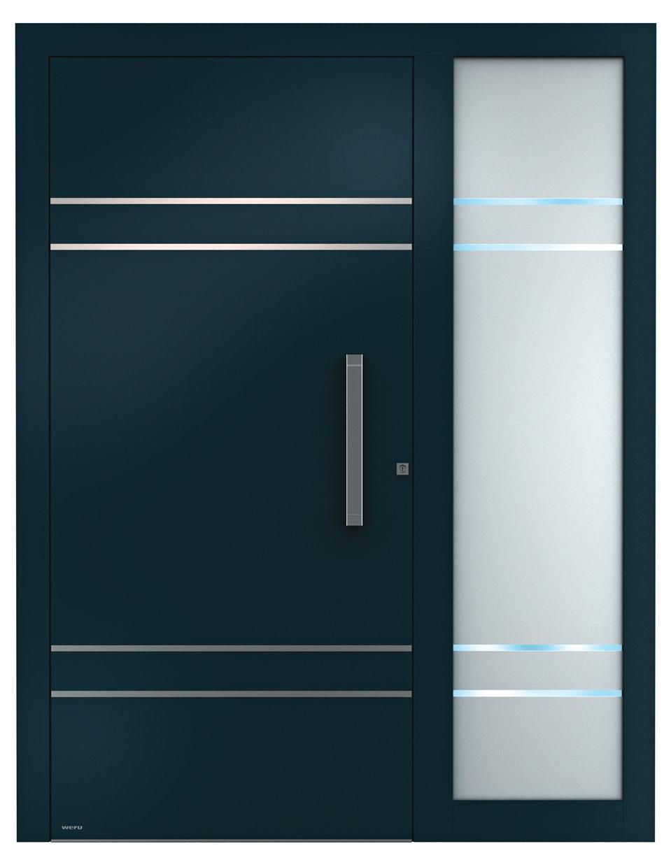 aluminium haust ren sedor modern mit seitenteil aluminium haust ren einstiegsmodelle von weru. Black Bedroom Furniture Sets. Home Design Ideas