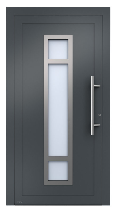 aluminium haust ren mit glasfalzf llung von weru abverkauf restposten angebote sortiment. Black Bedroom Furniture Sets. Home Design Ideas