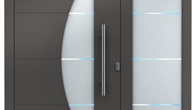 aluminium haust ren sedor modern mit seitenteil. Black Bedroom Furniture Sets. Home Design Ideas